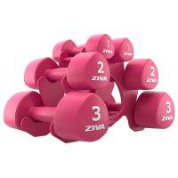 ZIVA Chic Studio Tribell 12 kg Set (1, 2, 3 kg Pairs) w/Stand